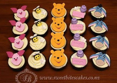 Winnie the Pooh themed cupcakes