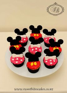 Minnie & Mickey mouse ear cupcakes