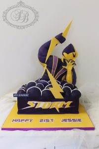 Melbourne Storm cake with 3D mascot