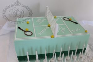 Tennis court rectangle cake