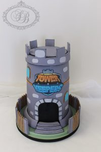 3D castle Tower Keepers theme cake