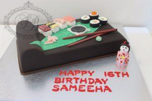 3D sushi board cake