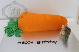 3D carrot and rabbit cake