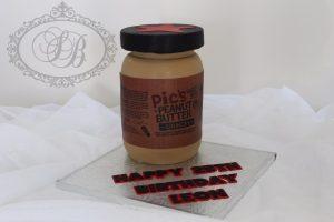 3D Pics Peanut butter jar cake