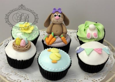 Easter bunny themed cupcakes