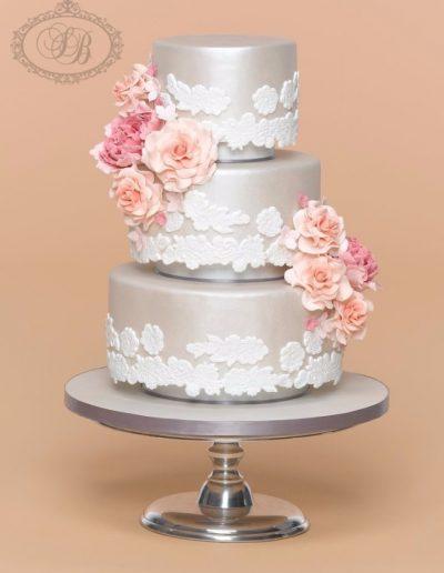 silver separator cake