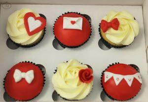 Red & white Valentine's cupcakes