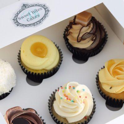 Online shop mixed 6 cupcake box
