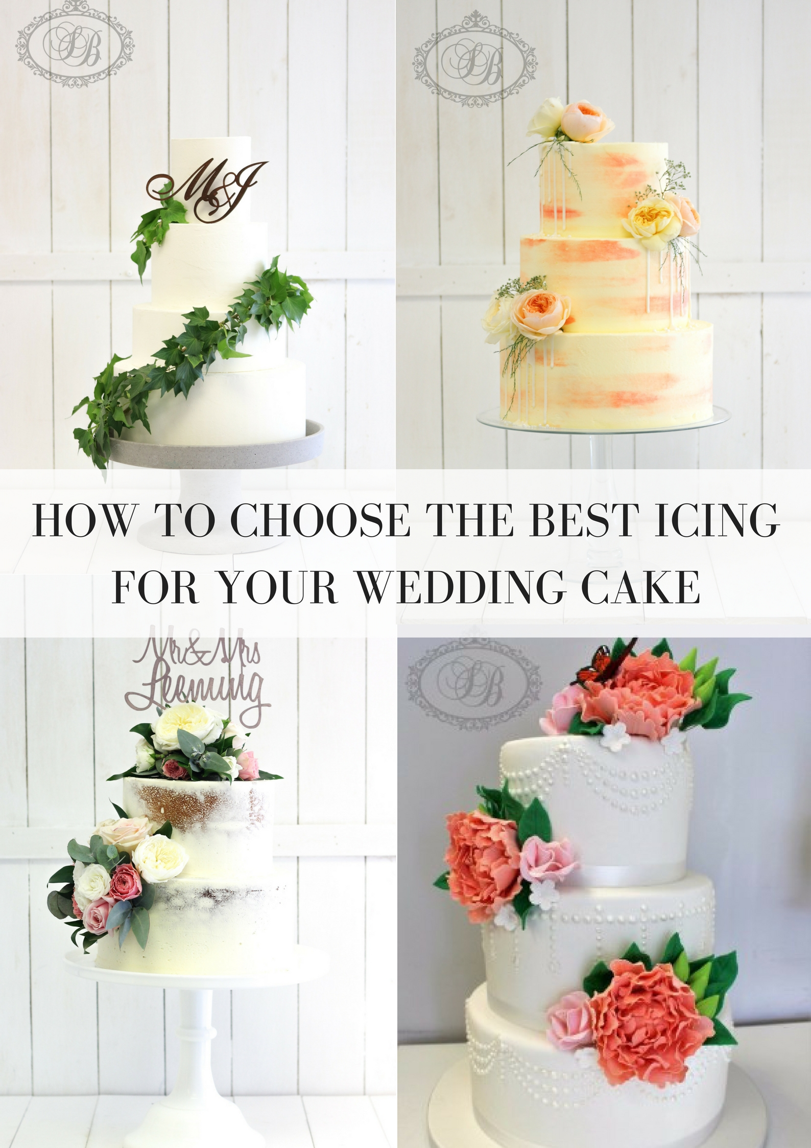 How To Choose The Best Icing For Your Wedding Cake: - Sweet Bites Cakes