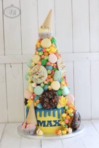 Ice cream and candy overload cake