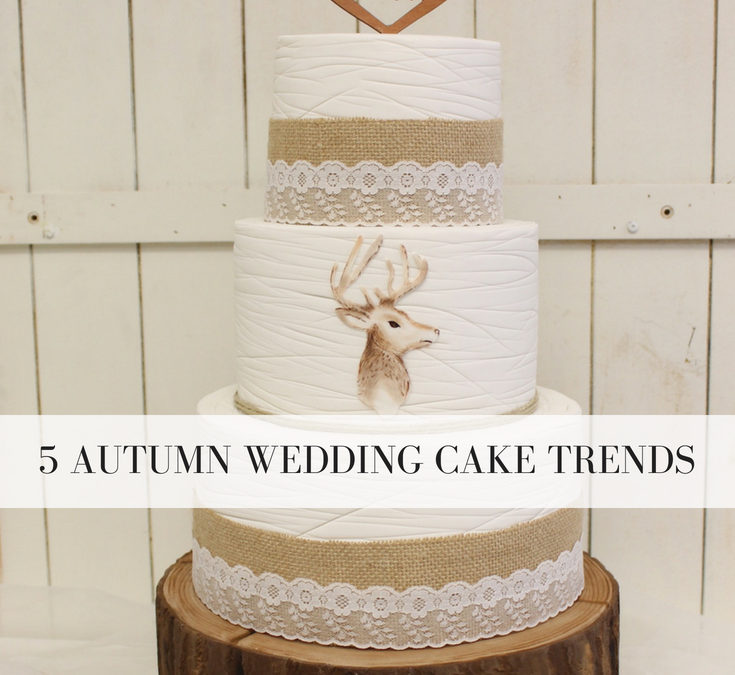 5 Autumn Wedding Cake Trends: