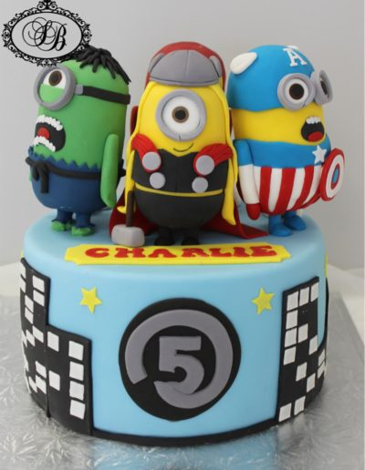 Avenger Minions Cake