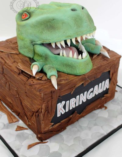 T-Rex Dinosaur Head Cake