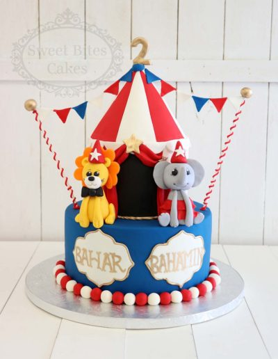 Children's circus tent cake