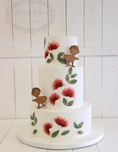 3 tier pohutakawa wedding cake