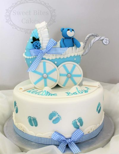 Blue pram cake