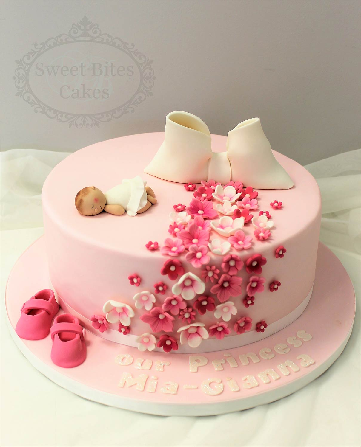 Photo cakes for baby girl