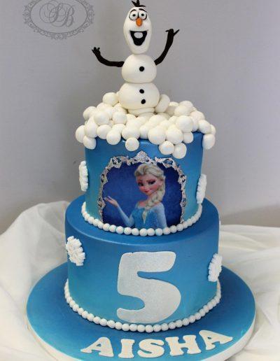 Olaf & Elsa Cake