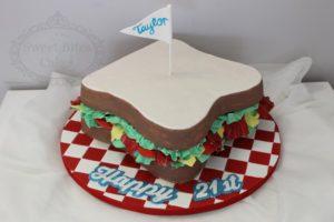 3D sandwich cake