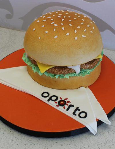 3D chicken burger oporto cake
