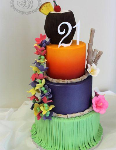 3 tier Luau cake