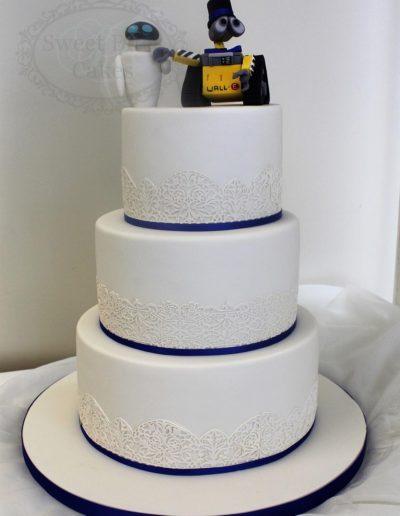 3 tier Wall-E wedding cake
