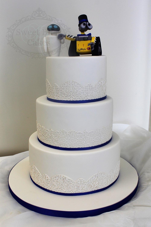 3 Tier Wall E Wedding Cake