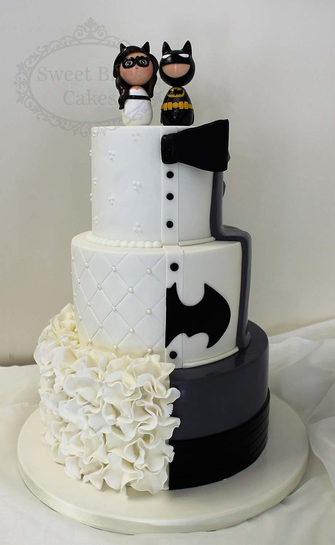 Batman Wedding Cake.Half Classic Half Batman Wedding Cake Sweet Bites Cakes