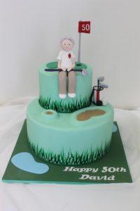 2 tier golf cake