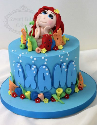 Little mermaid underwater cake