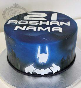 Batman airbrushed cake
