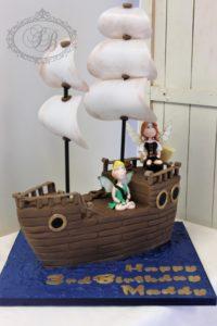 3D model ship cake