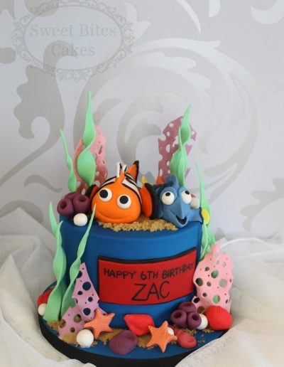 Underwater themed Nemo cake