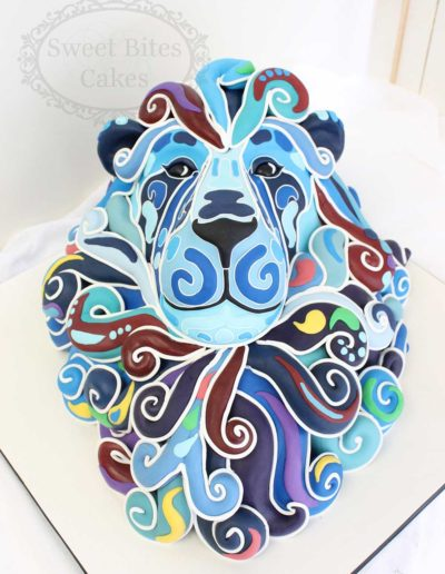3D abstract lion cake