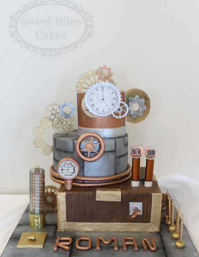 Steam punk themed cake