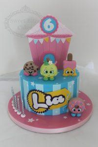 Shopkins single tier cake