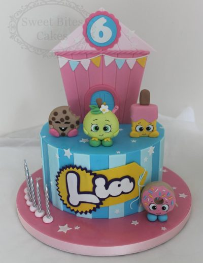 Shopkins single tier cake