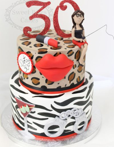 Leopard and zebra print cake