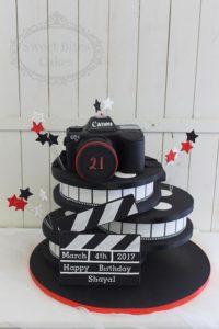 Camera and film reel cake