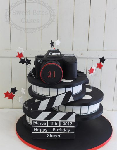 Camera and film reel cake