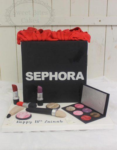 Sephora make up bag cake