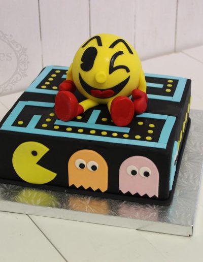 Square Pac Man cake