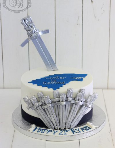 Game of Thrones swords cake