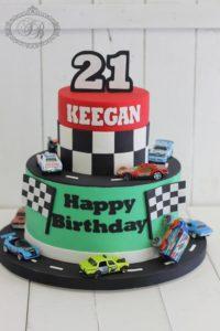 2 tier racing car cake