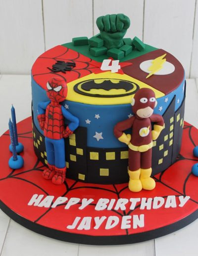 Marvel super heros kids cake
