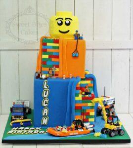 3 tier Lego cake