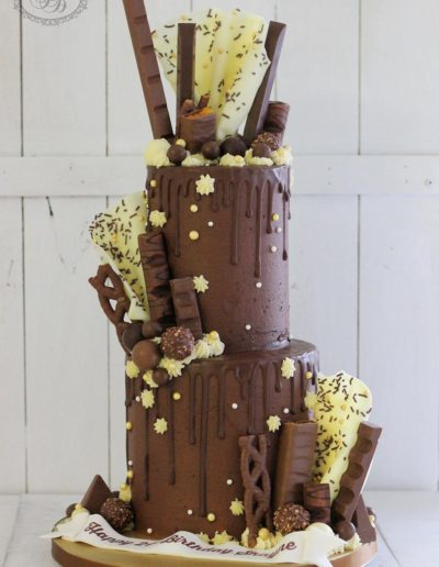 Tall chocolate overload cake