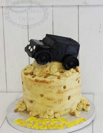 3D truck cake