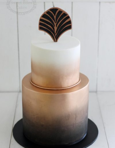 Copper airbrush cake