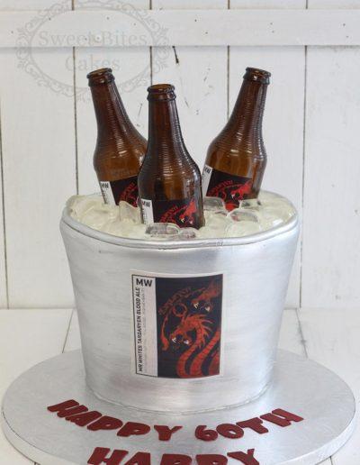 3D beer bucket cake